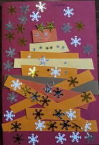Carte de Noël réalisée par les éléves